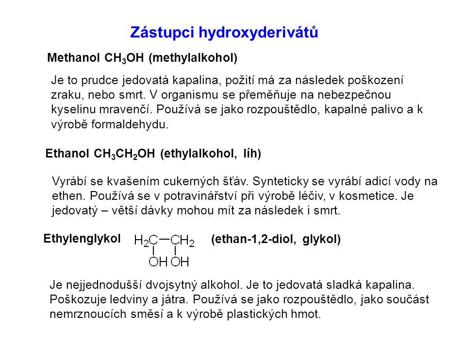 Zástupci hydroxyderivátů