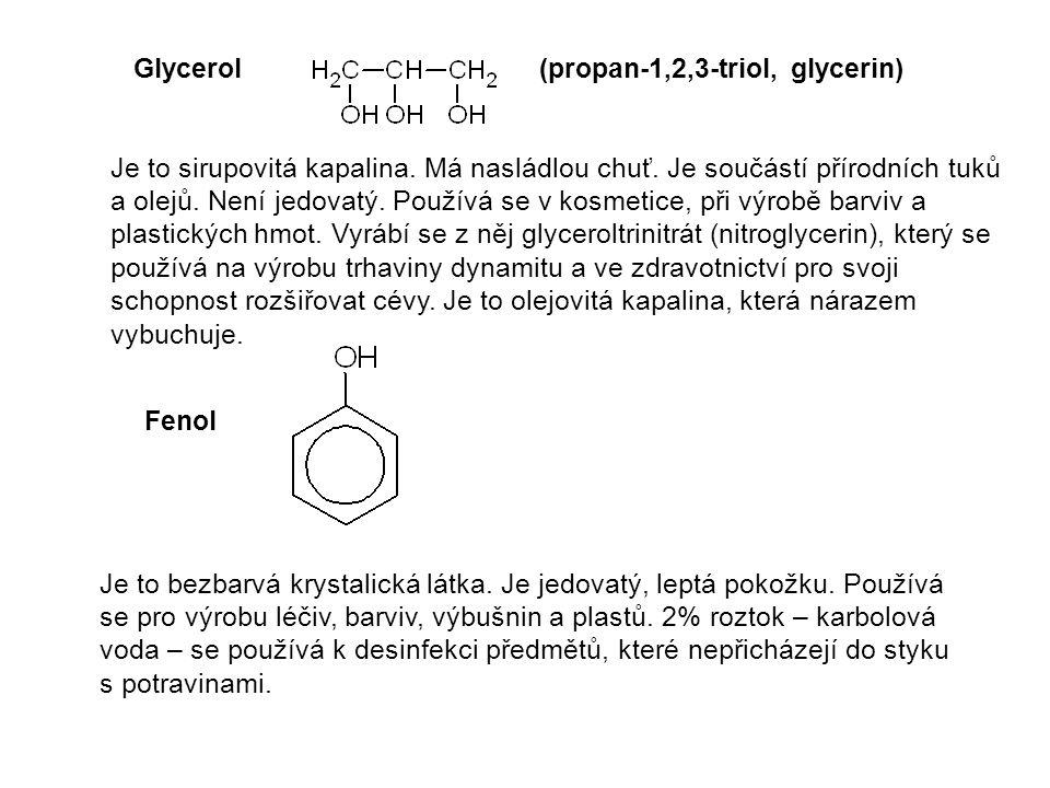 Glycerol (propan-1,2,3-triol, glycerin)