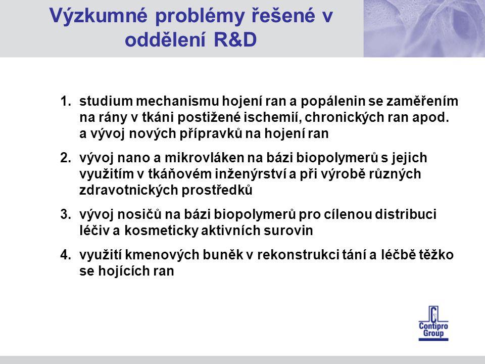 Výzkumné problémy řešené v oddělení R&D