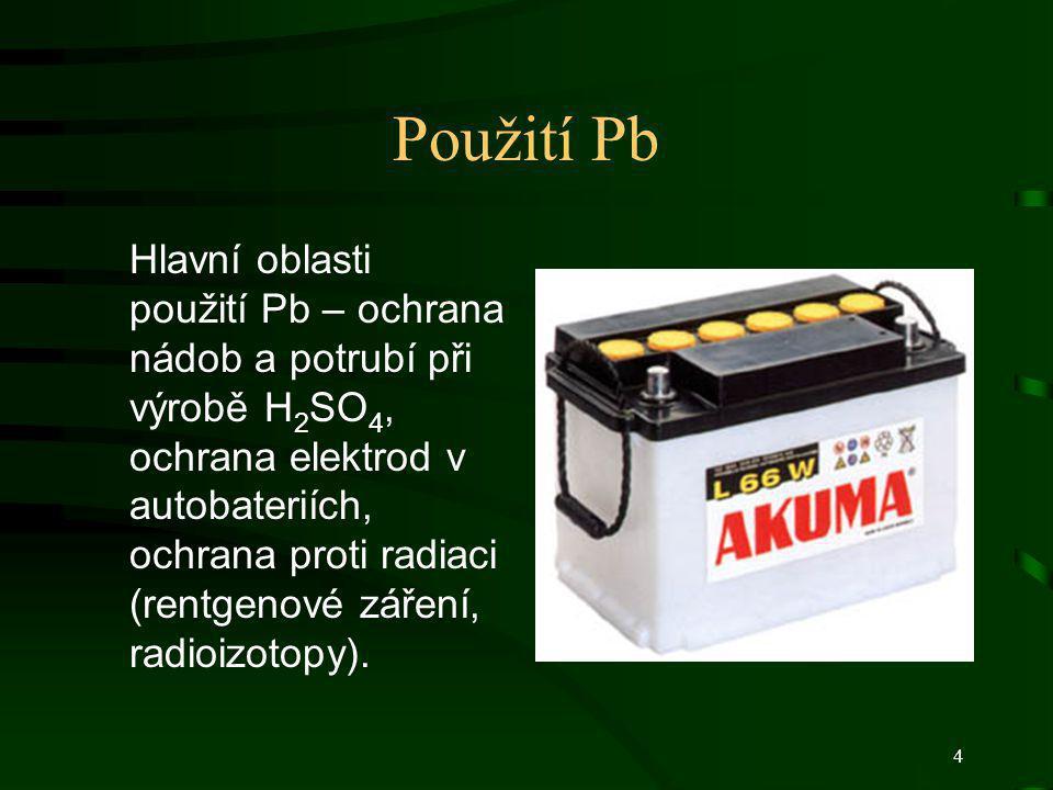 Použití Pb