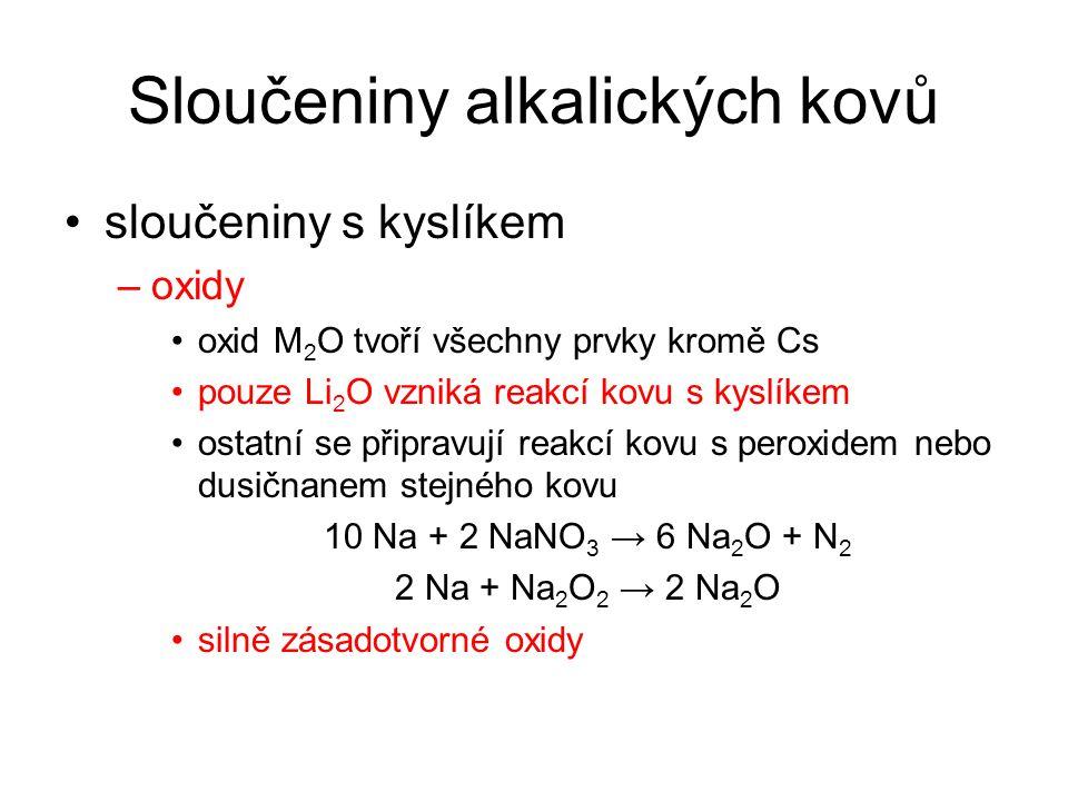Sloučeniny alkalických kovů