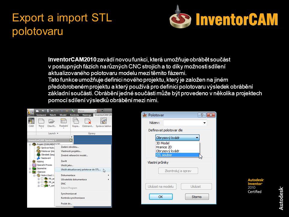 Export a import STL polotovaru