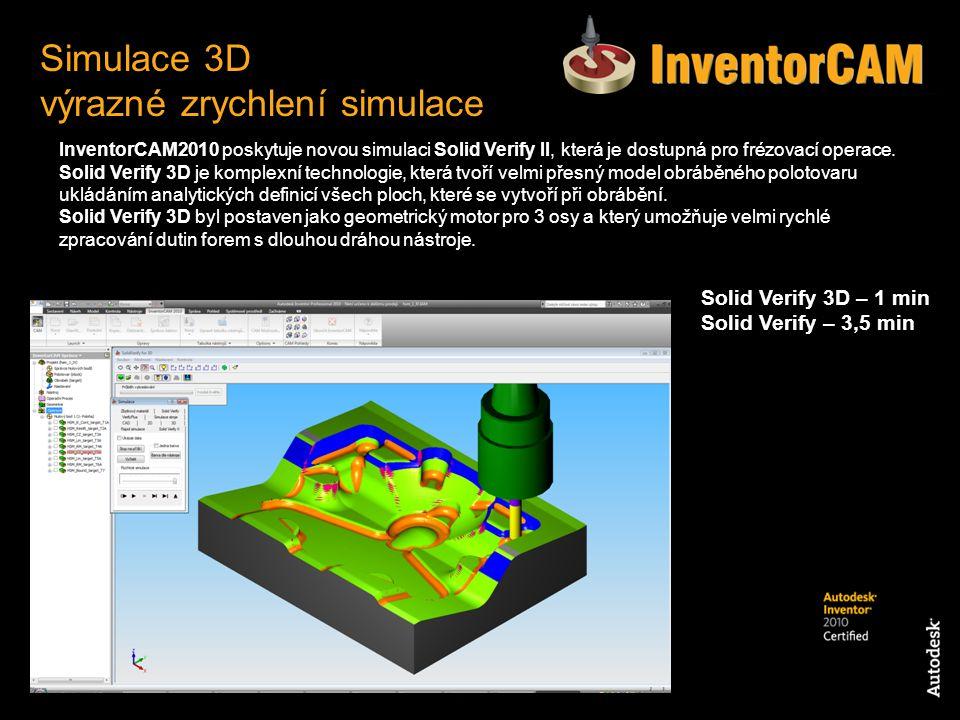 Simulace 3D výrazné zrychlení simulace