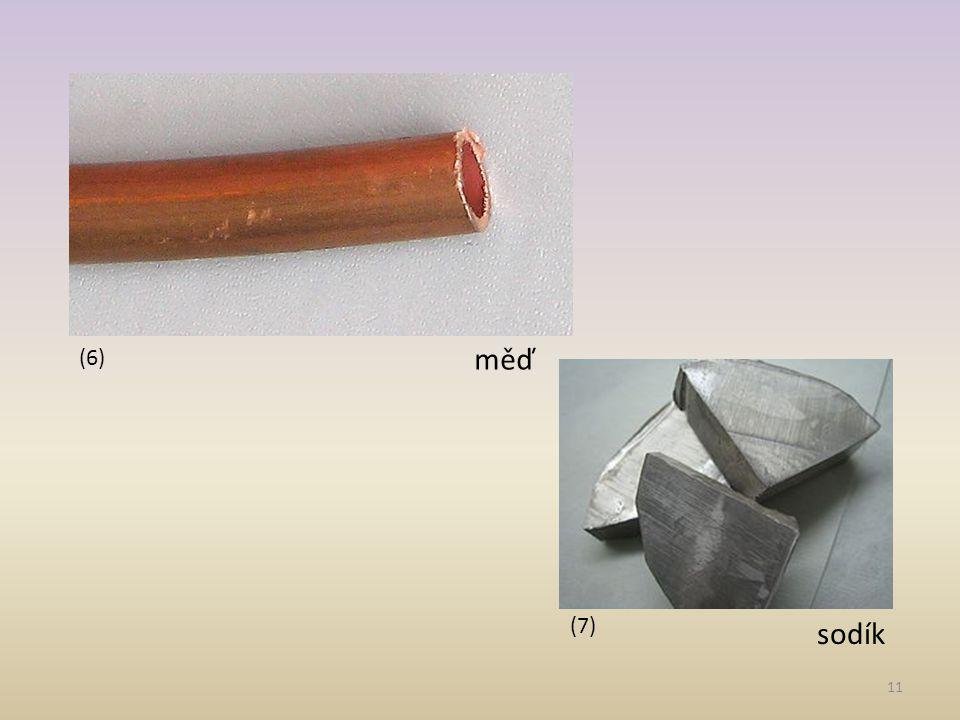 (6) měď (7) sodík