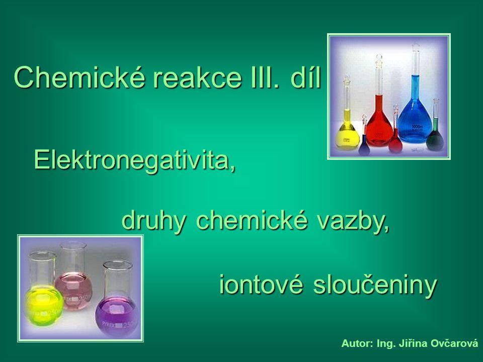 Chemické reakce III. díl