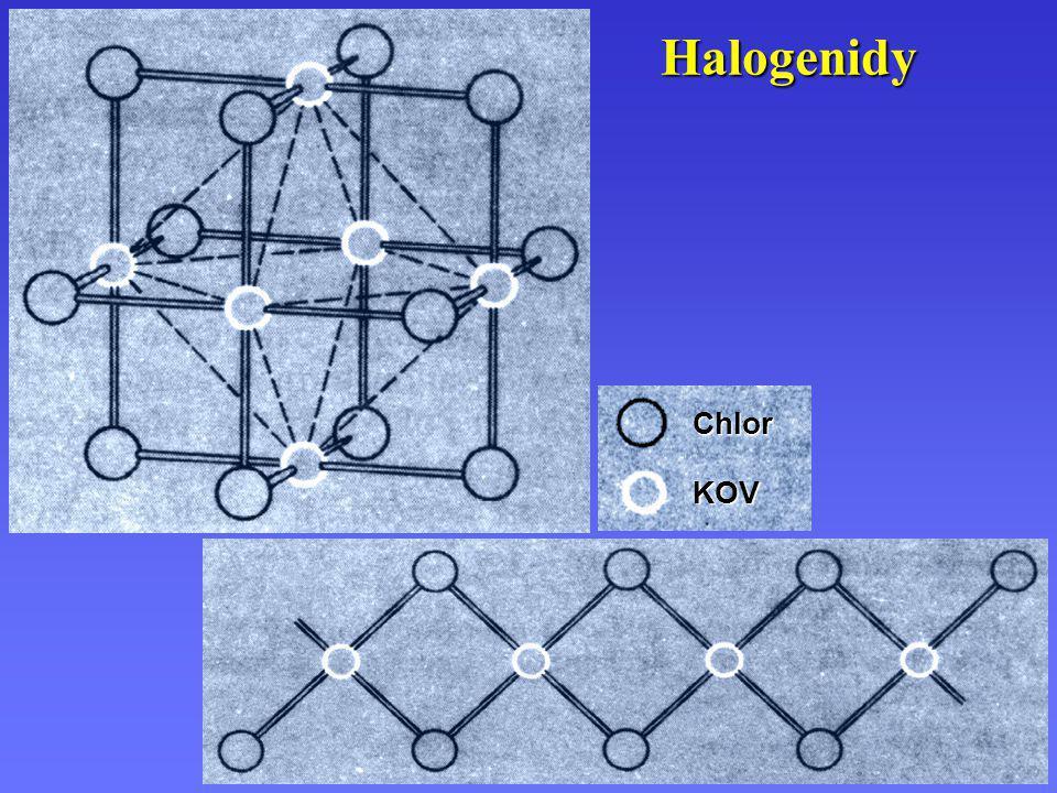 Halogenidy KOV Chlor