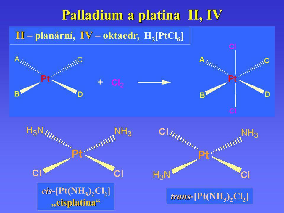 Palladium a platina II, IV