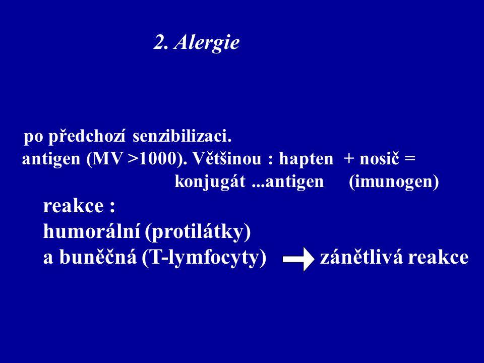 humorální (protilátky) a buněčná (T-lymfocyty) zánětlivá reakce