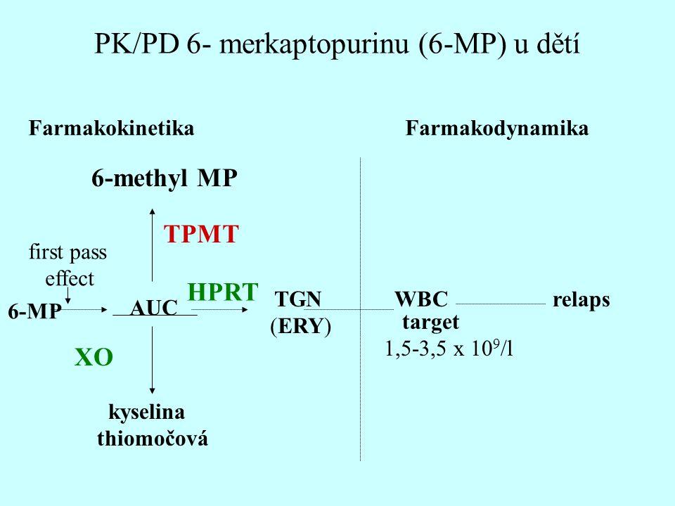 PK/PD 6- merkaptopurinu (6-MP) u dětí