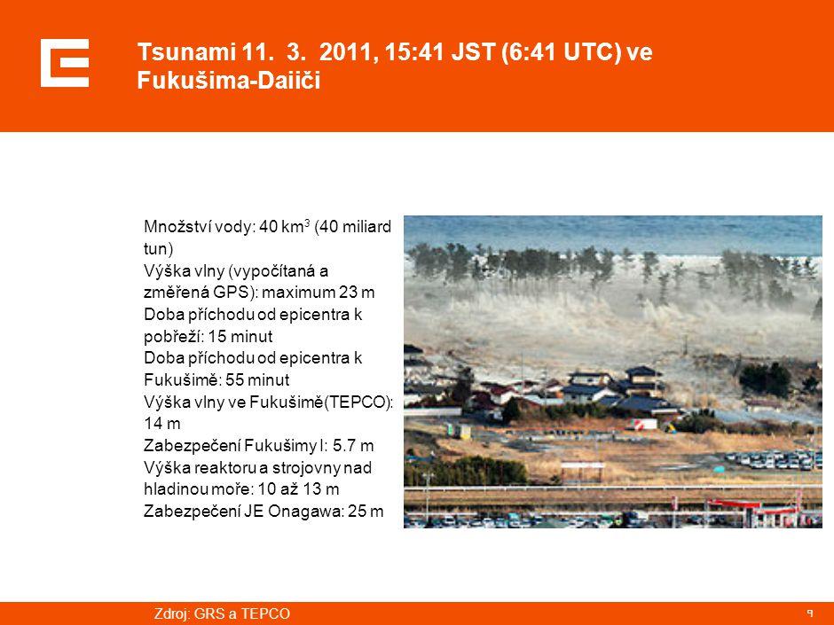 Areál JE Fukušima – těsně na pobřeží