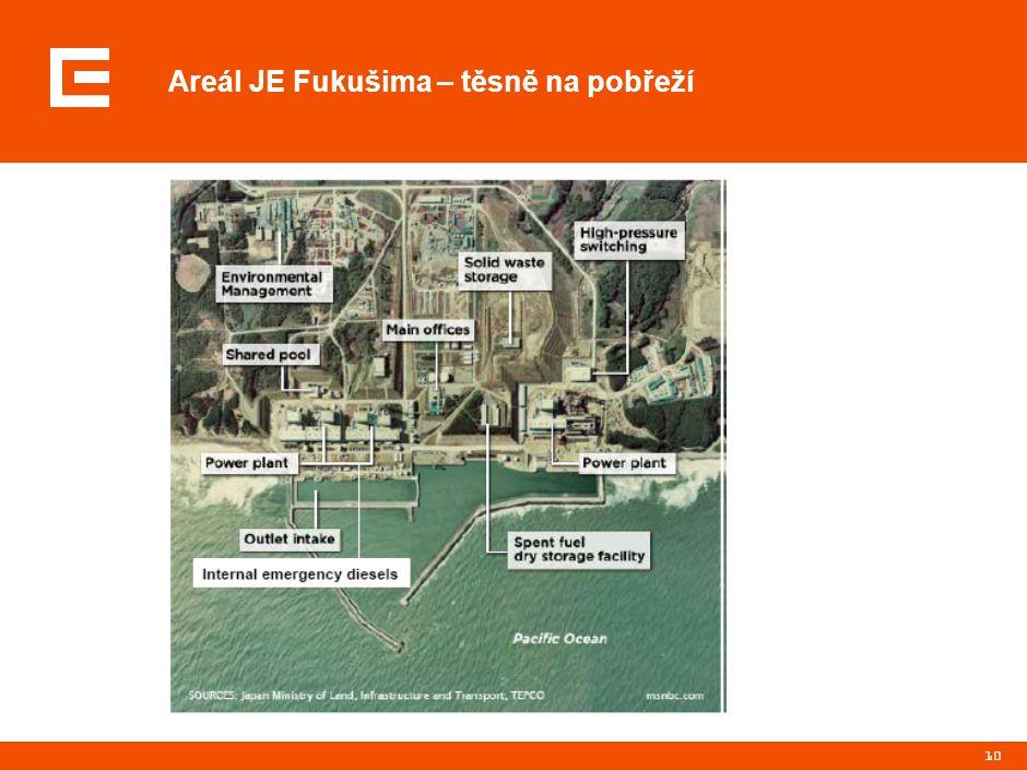 Parametry reaktorů JE Fukušima I