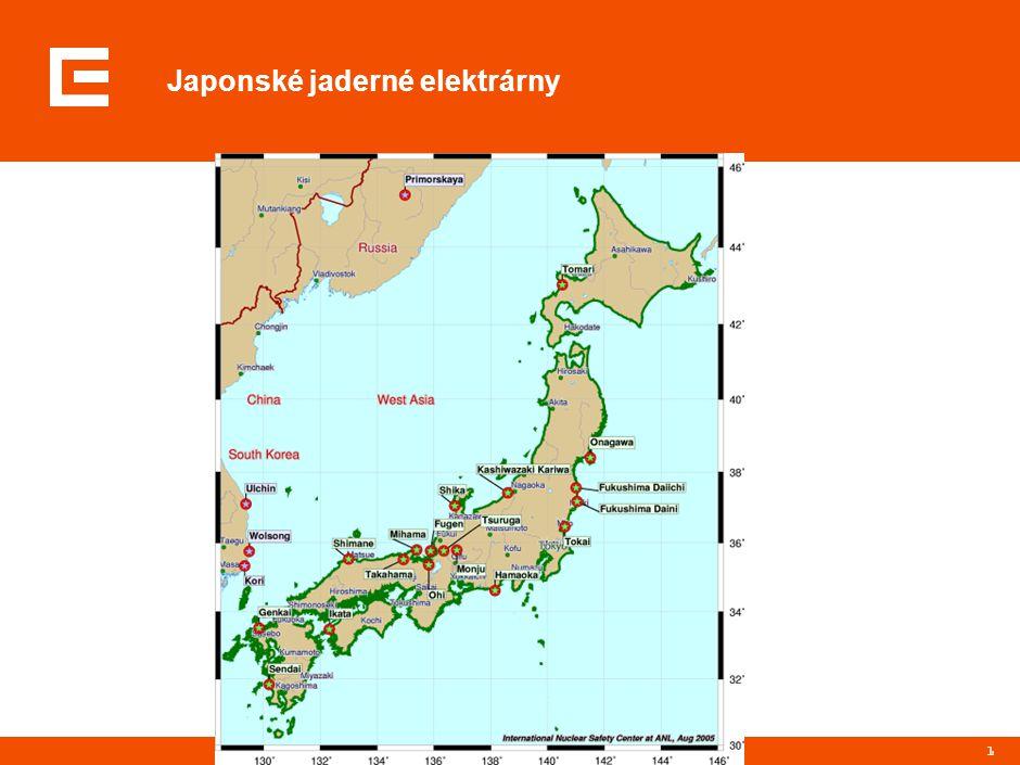 Japonské jaderné elektrárny