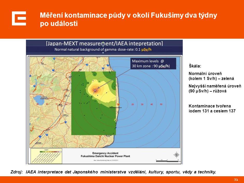 Radiační situace ve Fukušimě do 17. 3. 2011