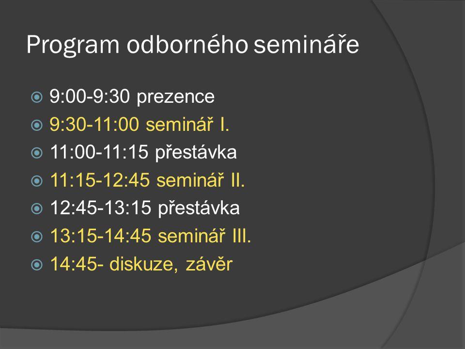 Program odborného semináře