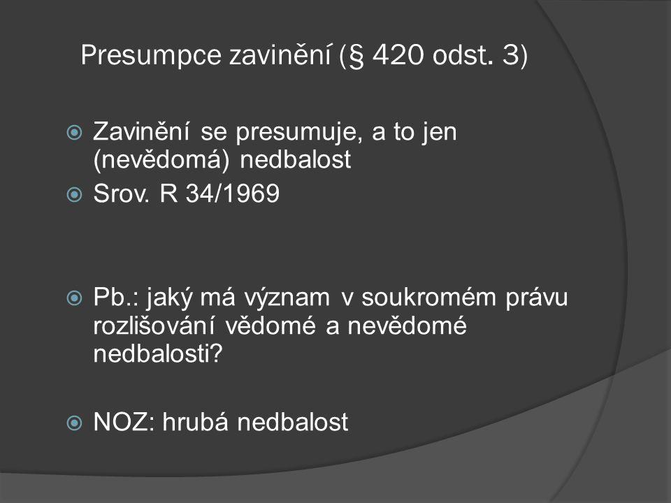 Presumpce zavinění (§ 420 odst. 3)