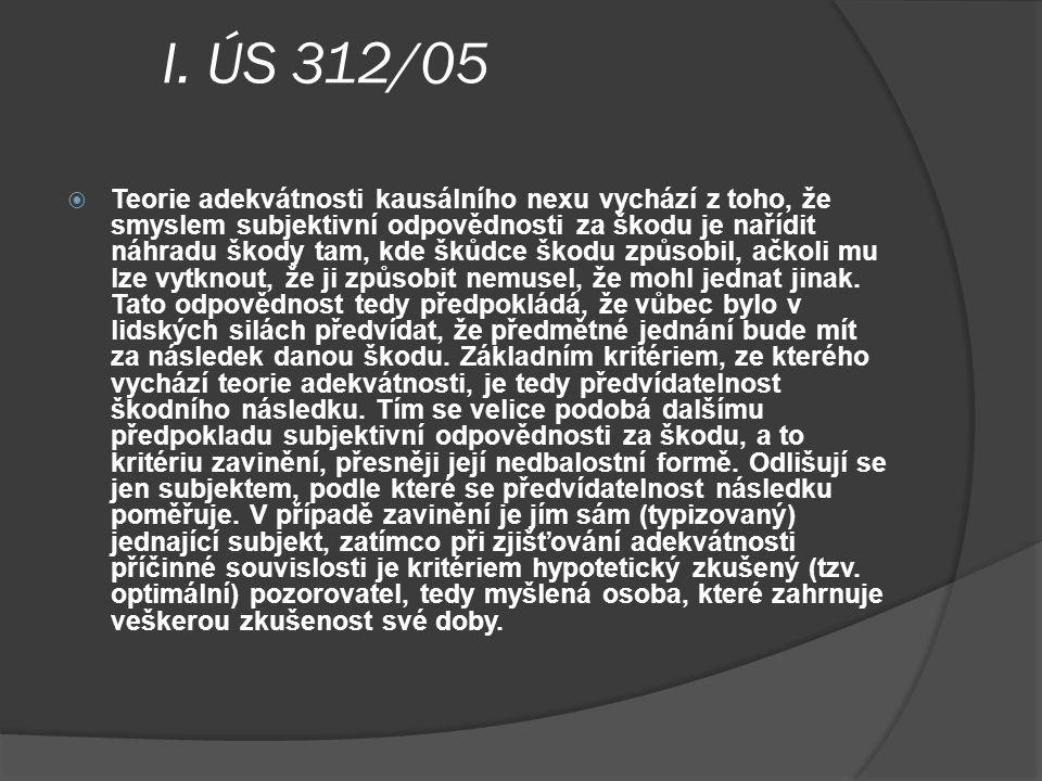 I. ÚS 312/05