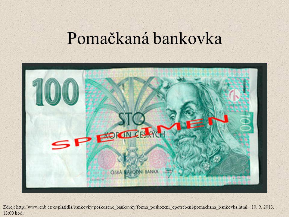 Pomačkaná bankovka