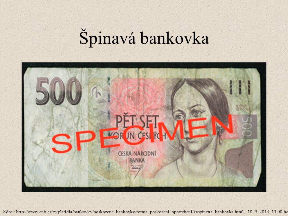 Špinavá bankovka