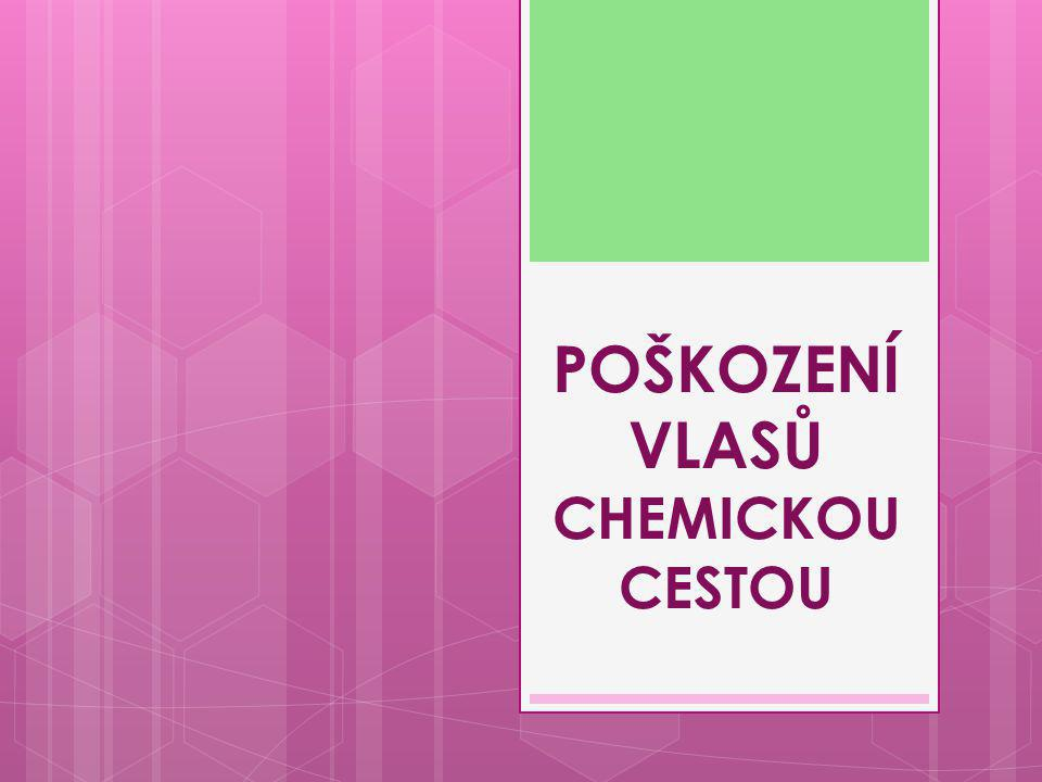 POŠKOZENÍ VLASŮ CHEMICKOU CESTOU