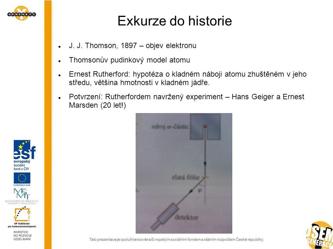 Exkurze do historie J. J. Thomson, 1897 – objev elektronu