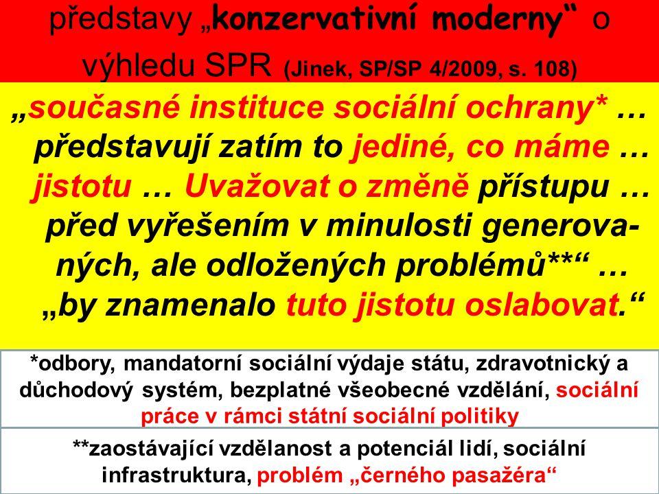 """představy """"konzervativní moderny o výhledu SPR (Jinek, SP/SP 4/2009, s. 108)"""