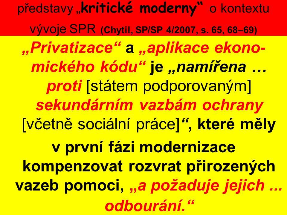 """představy """"kritické moderny o kontextu vývoje SPR (Chytil, SP/SP 4/2007, s. 65, 68–69)"""