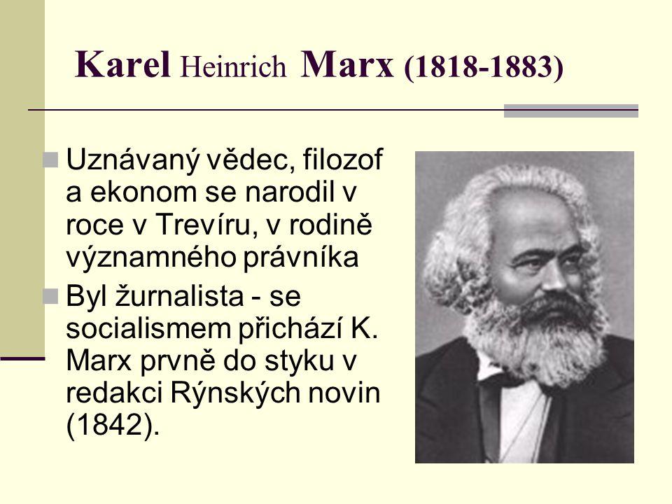 Karel Heinrich Marx (1818-1883)