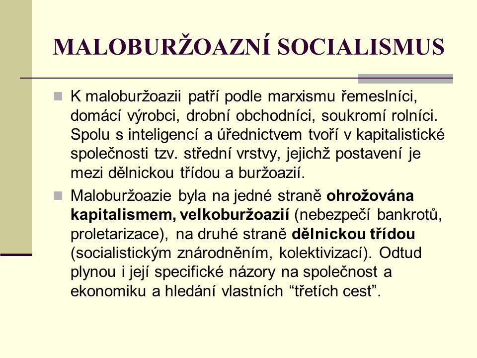 MALOBURŽOAZNÍ SOCIALISMUS