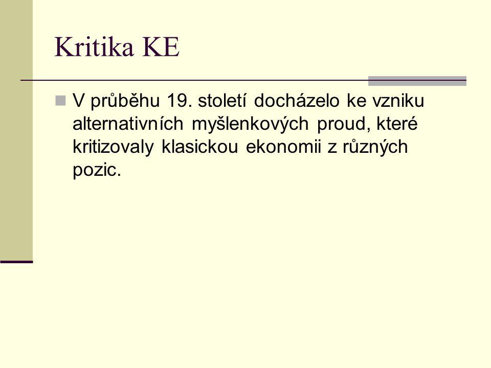 Kritika KE V průběhu 19.