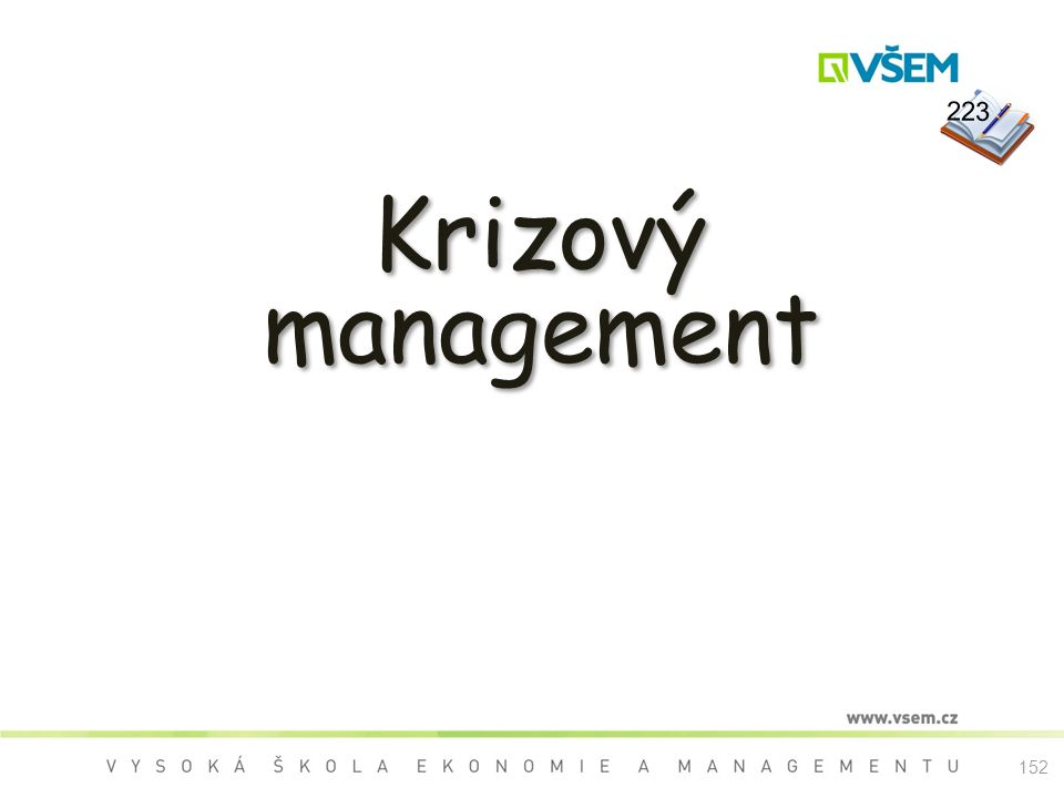 223 Krizový management