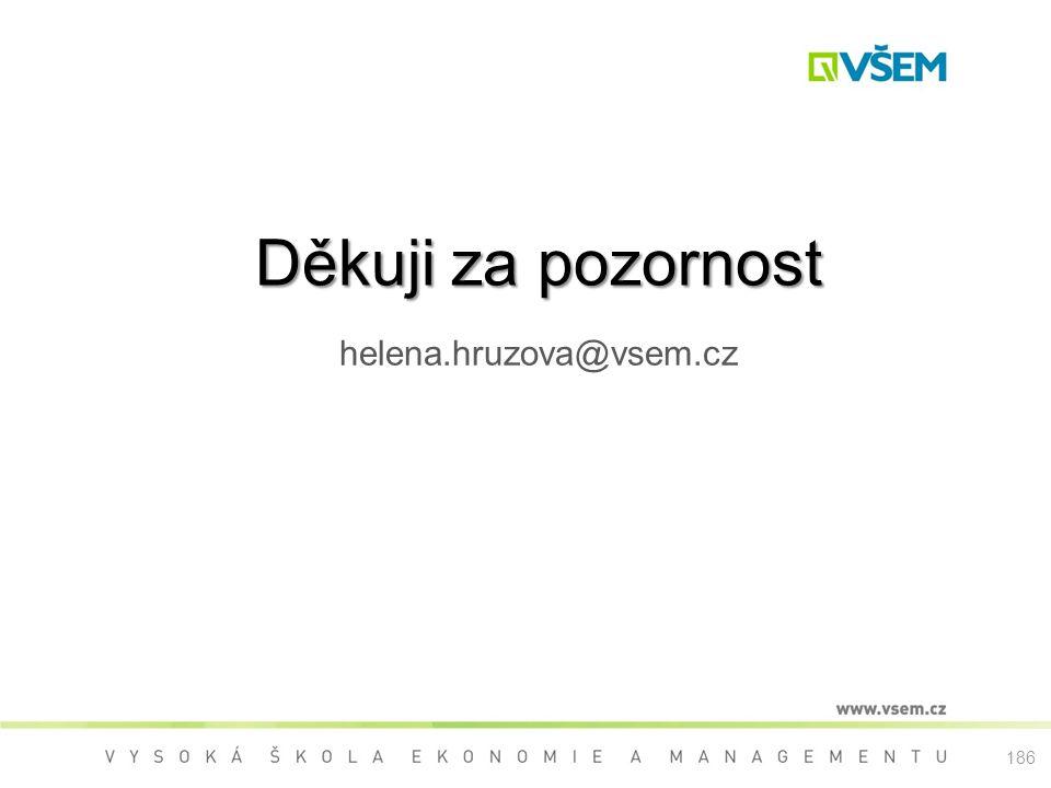 Děkuji za pozornost helena.hruzova@vsem.cz