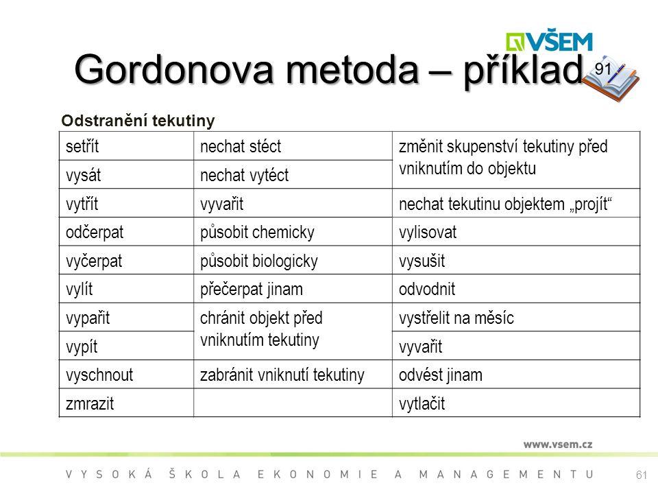 Gordonova metoda – příklad