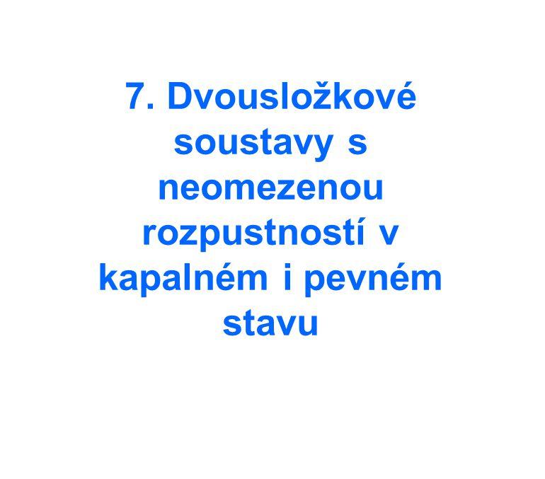 7. Dvousložkové soustavy s neomezenou rozpustností v kapalném i pevném stavu