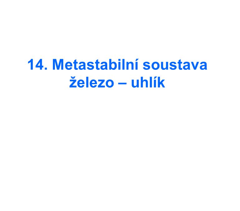 14. Metastabilní soustava železo – uhlík