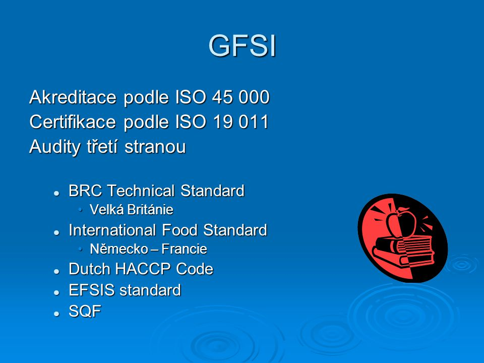 GFSI Akreditace podle ISO 45 000 Certifikace podle ISO 19 011