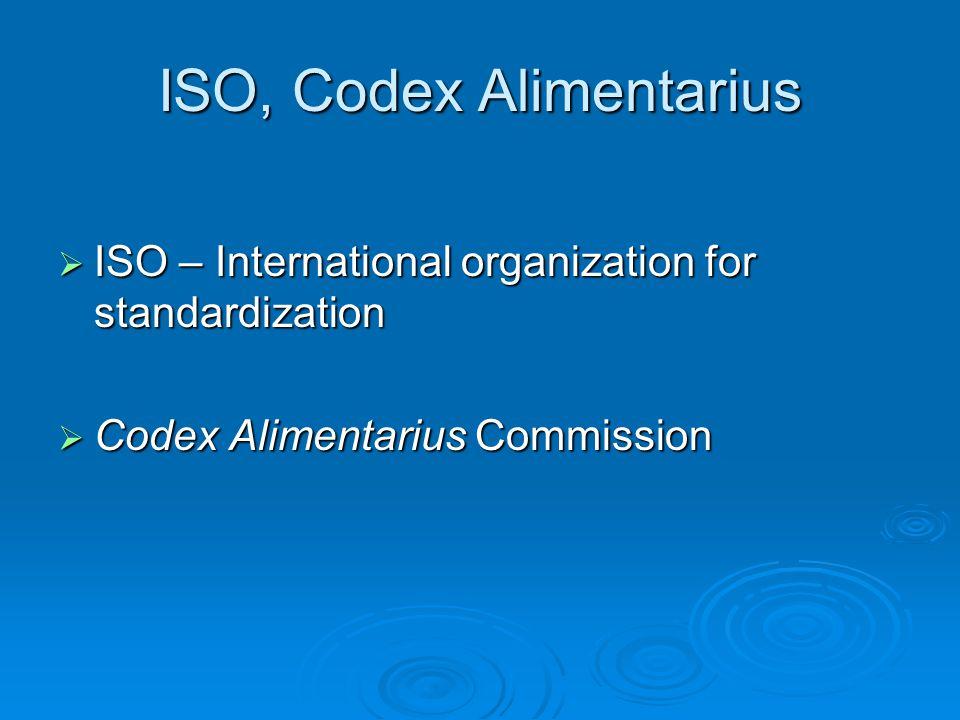 ISO, Codex Alimentarius