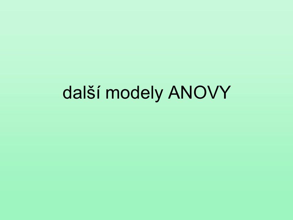 další modely ANOVY