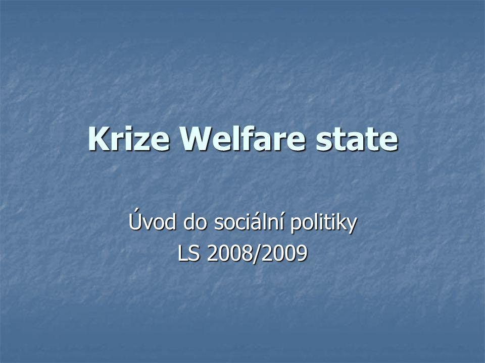 Úvod do sociální politiky LS 2008/2009