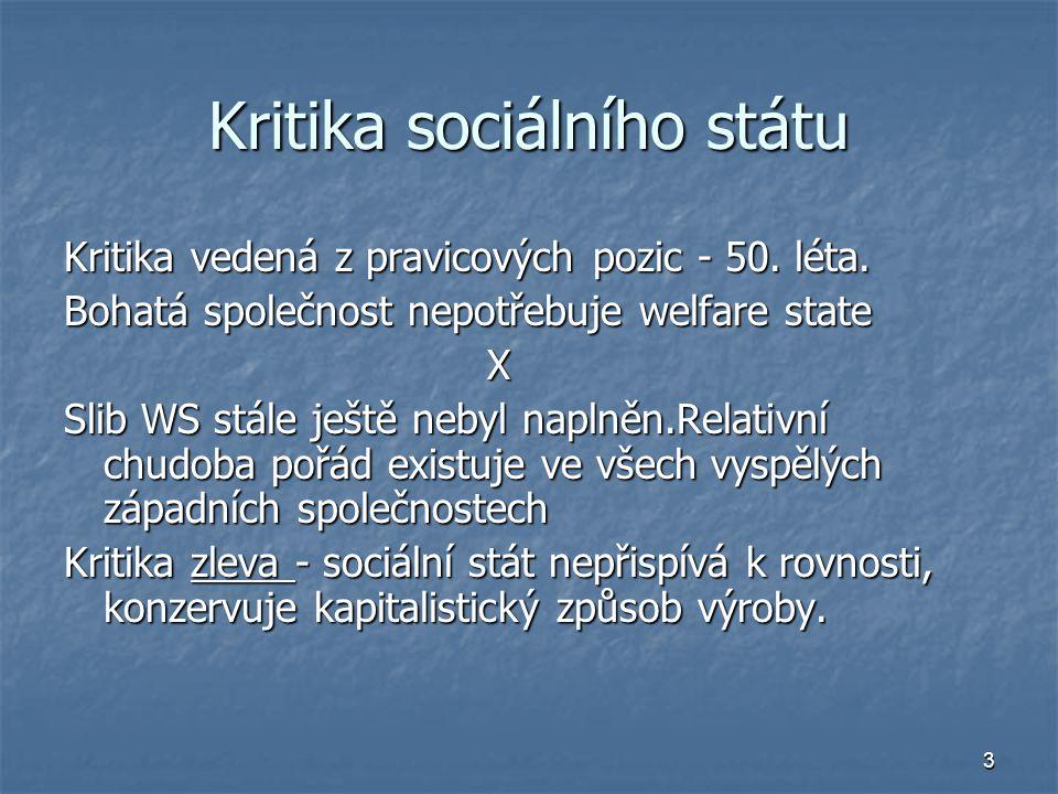 Kritika sociálního státu
