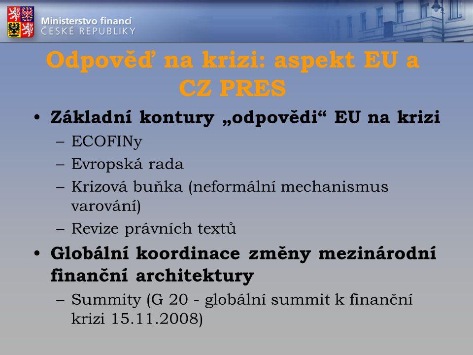 Odpověď na krizi: aspekt EU a CZ PRES