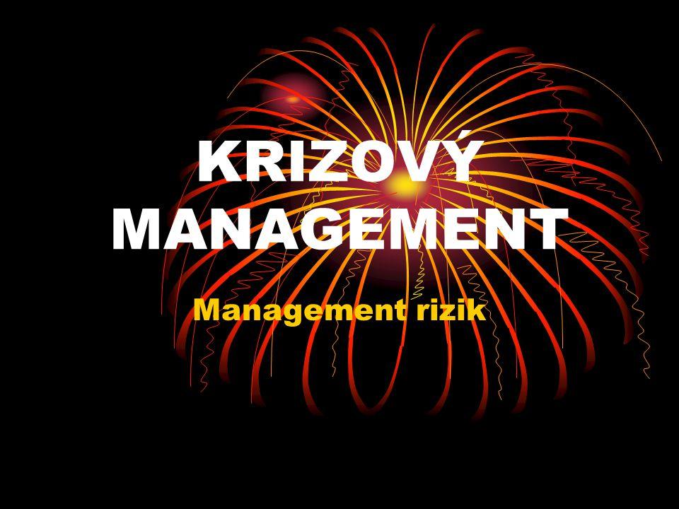 KRIZOVÝ MANAGEMENT Management rizik