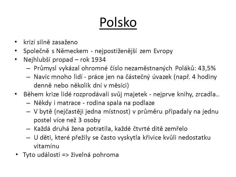 Polsko krizí silně zasaženo
