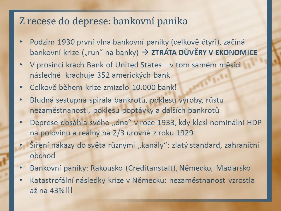 Z recese do deprese: bankovní panika