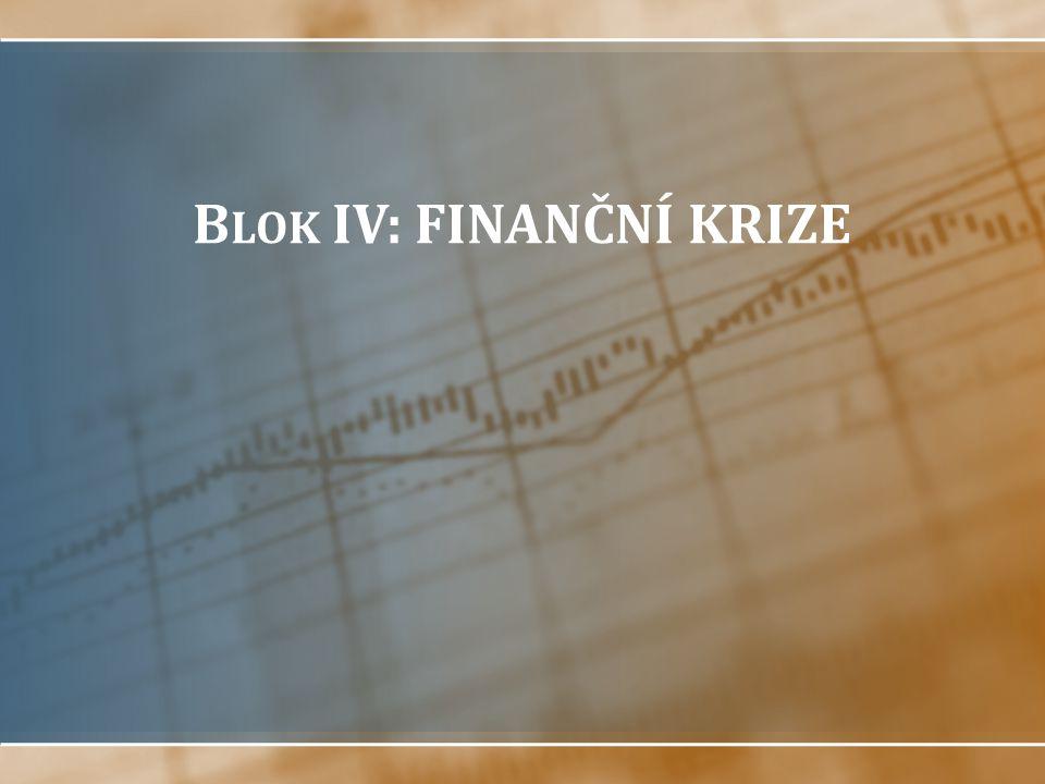 Blok IV: FINANČNÍ KRIZE