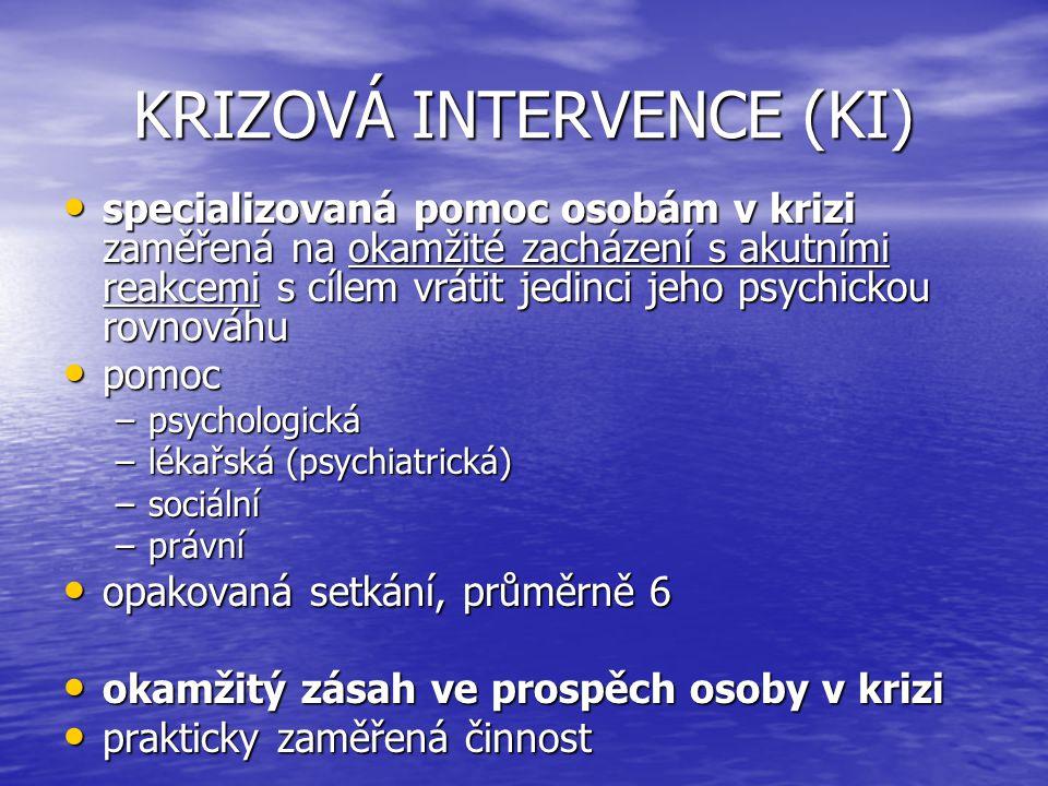 KRIZOVÁ INTERVENCE (KI)