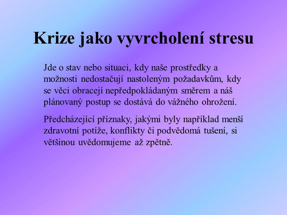 Krize jako vyvrcholení stresu