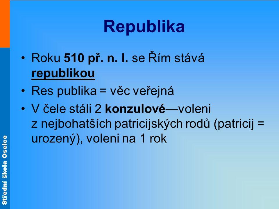 Republika Roku 510 př. n. l. se Řím stává republikou