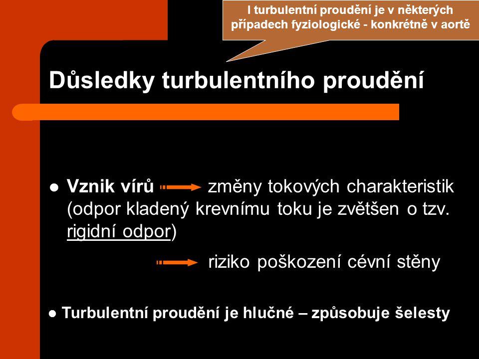 Důsledky turbulentního proudění