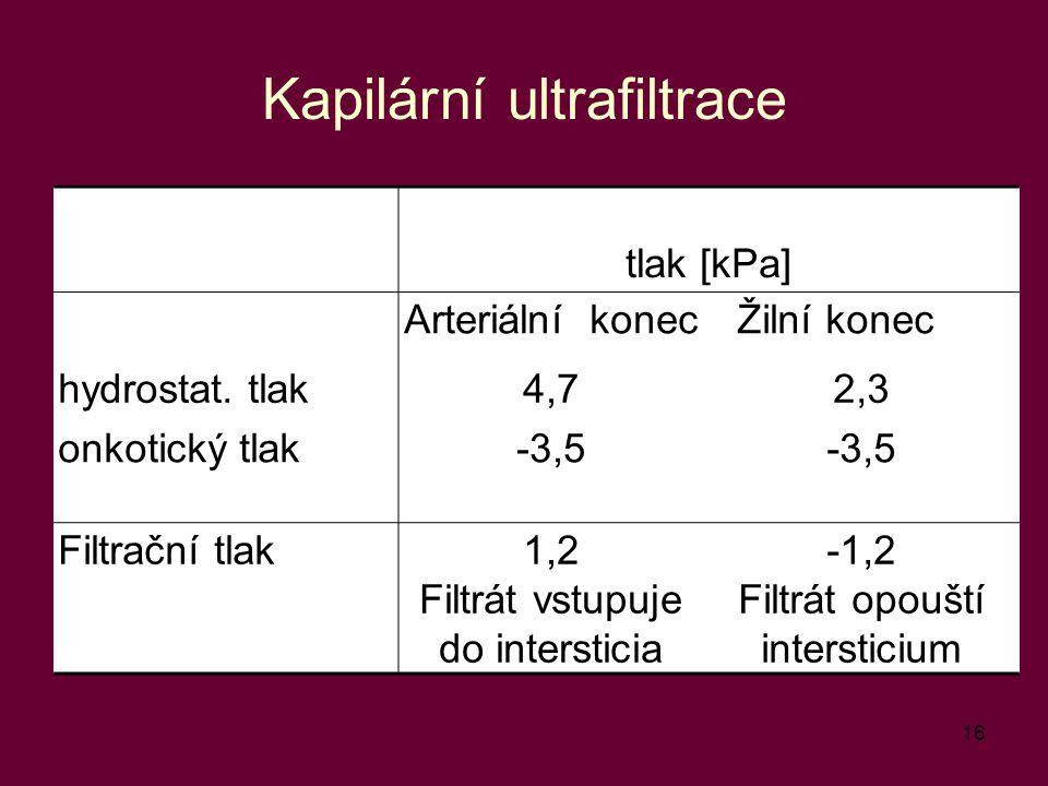 Kapilární ultrafiltrace