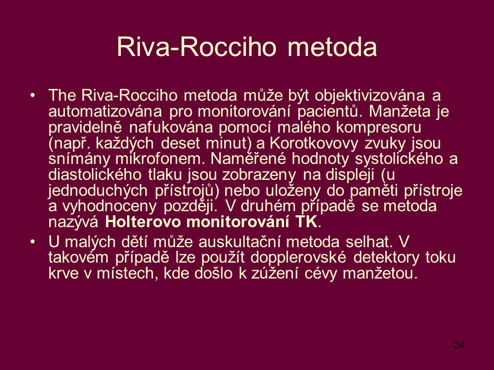 Riva-Rocciho metoda